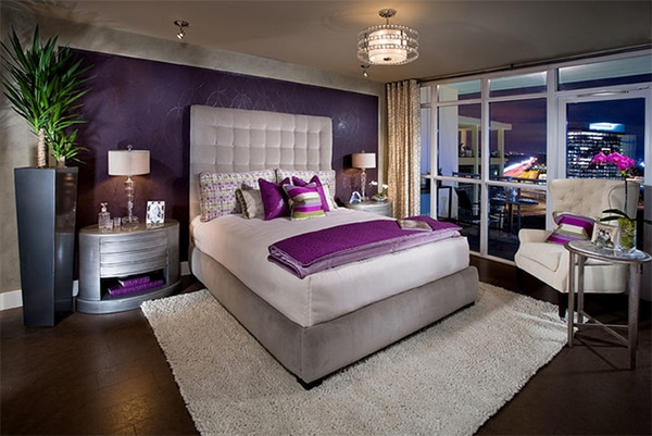 chambre violette 20 id es d coration pour un chambre. Black Bedroom Furniture Sets. Home Design Ideas