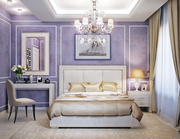 chambre classique violette