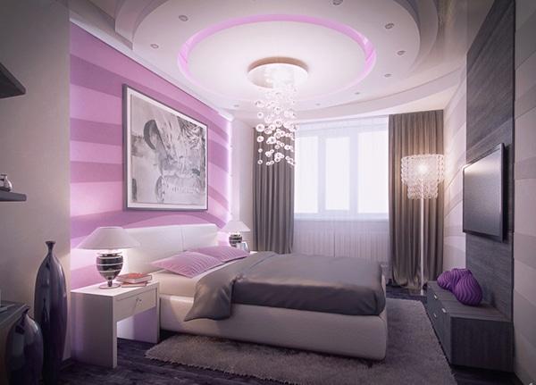 Chambre violette 20 id es d coration pour un chambre for Idee deco chambre moderne