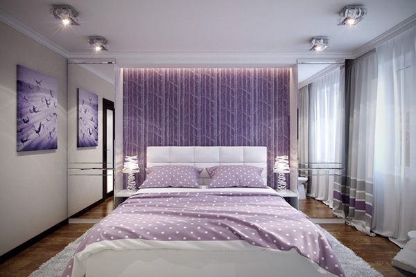 chambre violette 20 id es d coration pour un chambre originale. Black Bedroom Furniture Sets. Home Design Ideas