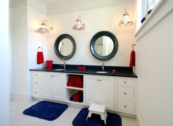 salle de bain élégante pour les enfants thème nautique