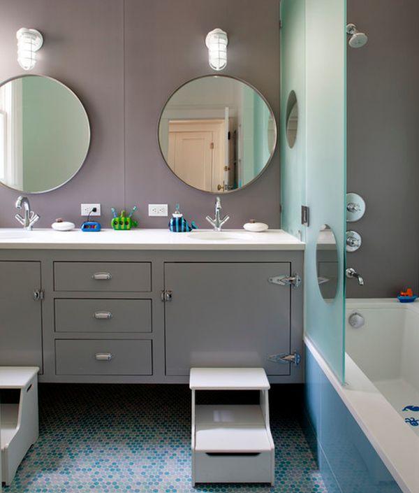 salle de bain enfant classe et moderne