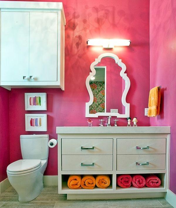 Salle de bain enfant 23 id es originales pour votre d co for Salle de bain fille
