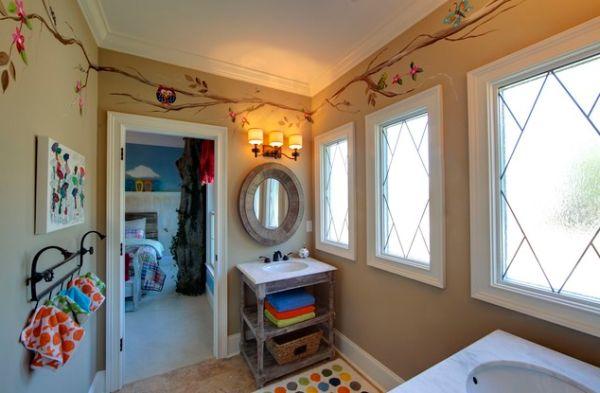 Salle de bain enfant 23 id es originales pour votre d co for Stickers salle de bain enfant