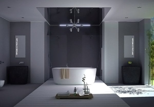 salle de bain grise 15 id es du gris taupe l 39 ardoise pour se sentir comme dans un cocon. Black Bedroom Furniture Sets. Home Design Ideas