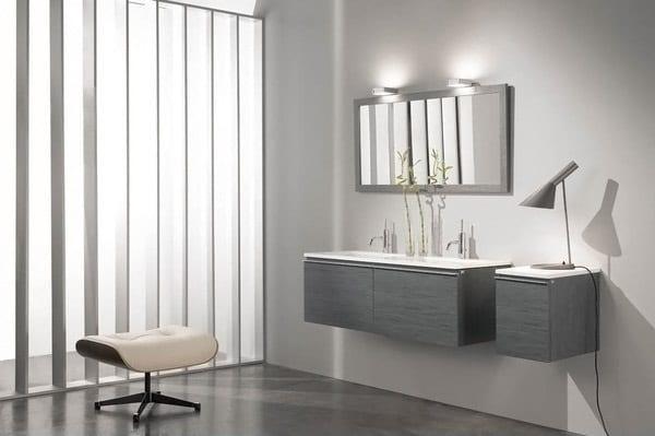 Salle de bain grise: 65 idées du gris taupe à l\'ardoise pour se ...