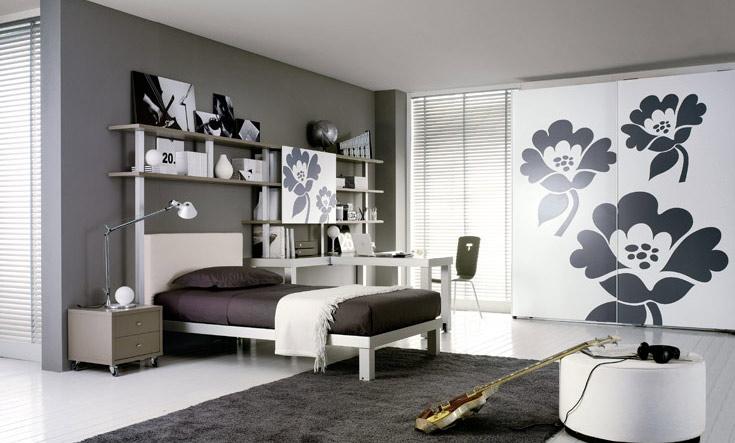 Chambre d ado fille moderne for Decoration chambre ado fille moderne