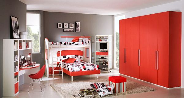 Red Teen Rooms 80