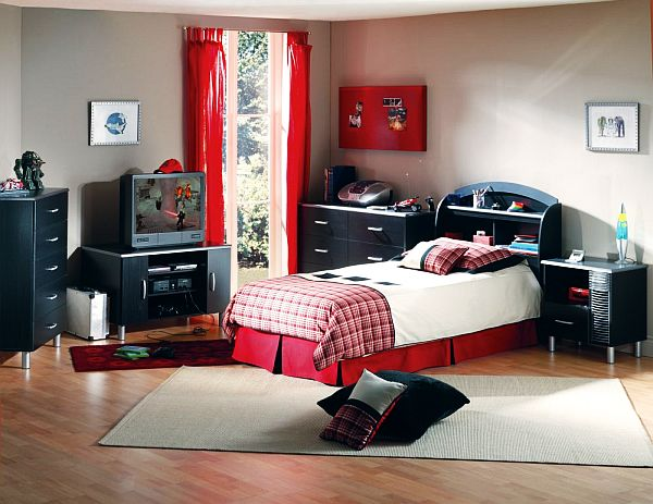 id e de chambre ado gar on 29 id es incontournables 10. Black Bedroom Furniture Sets. Home Design Ideas