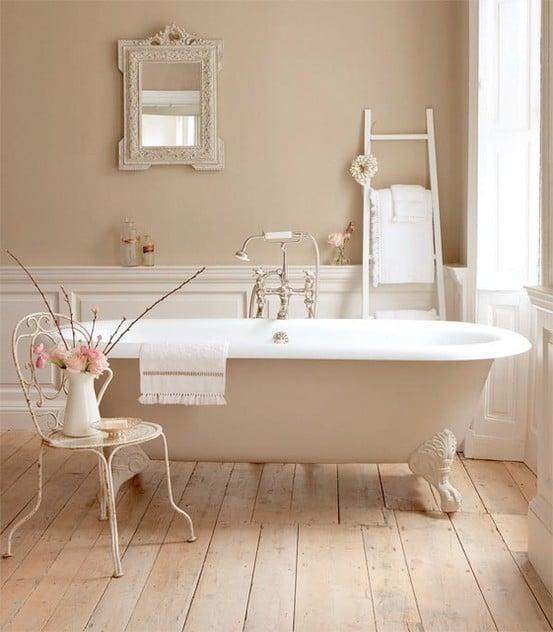 Salle de bains beige 91 id es pour vous inspirer - Salle de bain beige et blanc ...