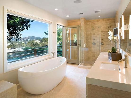 Salle De Bain Sans Lumière Naturelle : HGTV Modern Bathroom Designs