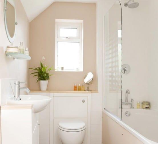 Salle de bain beige et marron meuble salle de bain beige - Salle de bain blanche et beige ...