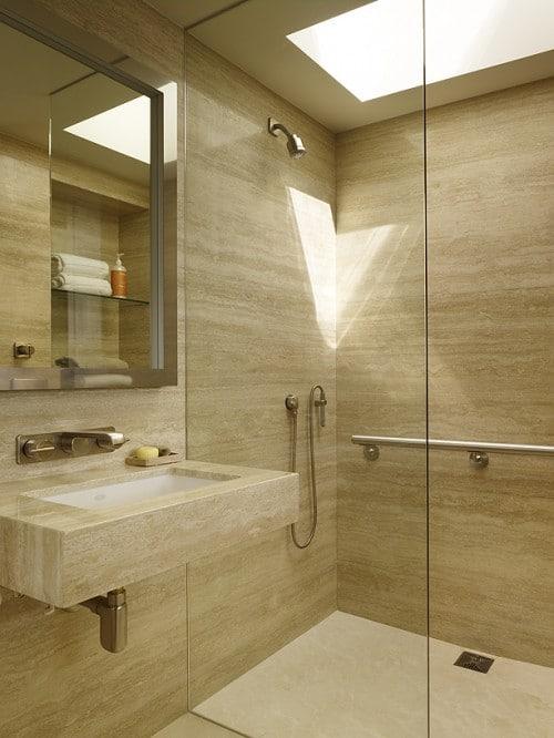 Salle de bains beige 43 id es pour vous inspirer - Idees relaxantes de salle de bains beige ...