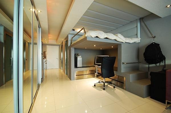 lit mezzanine avec bureau int gr 29 id es pratiques. Black Bedroom Furniture Sets. Home Design Ideas