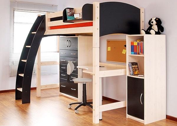 Lit mezzanine avec bureau int gr 29 id es pratiques - Lit mezzanine armoire bureau ...