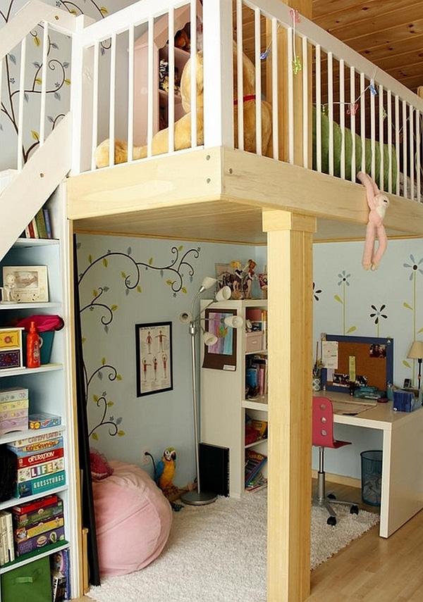 Lit mezzanine avec bureau int gr 29 id es pratiques - Fabriquer son lit mezzanine ...