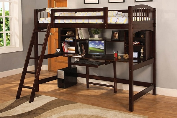 lit mezzanine avec bureau int gr 29 id es pratiques. Black Bedroom Furniture Sets. Home Design Ideas
