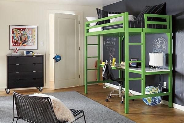 Lit mezzanine avec bureau int gr 29 id es pratiques - Lit original pour ado ...