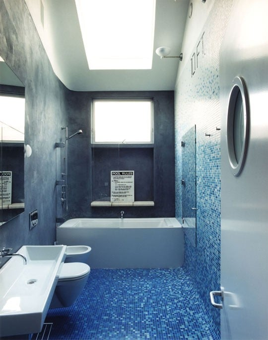Awesome Salle De Bain Beton Cire Bleu Images - House Design ...