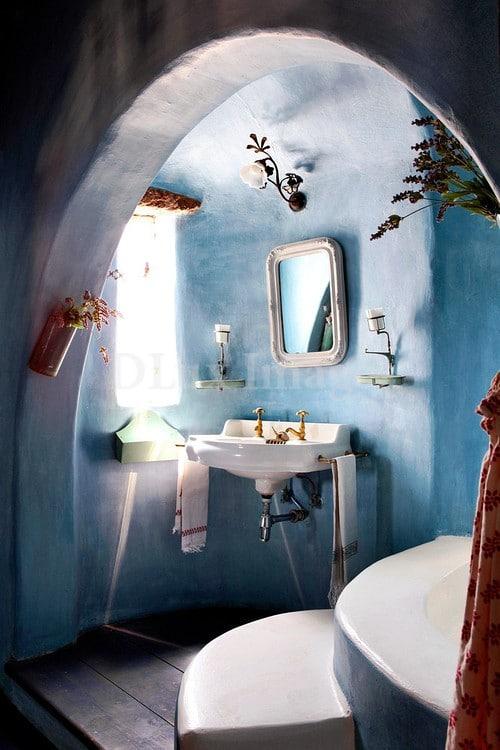 Salle de bain bleue 42 id es originales pour votre d co for Salle de bain bleue