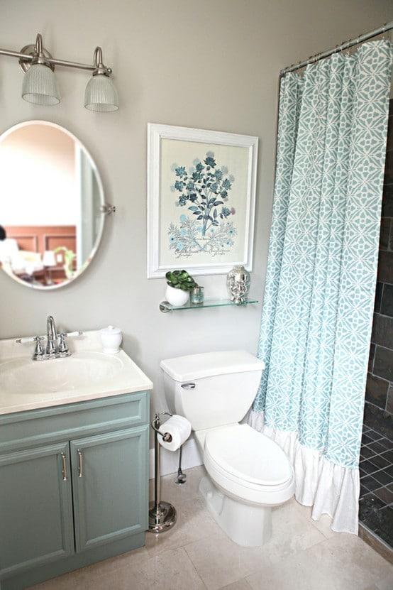 Salle de bain bleue 42 id es originales pour votre d co - Douche italienne bleue ...