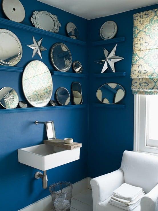 Salle de bain bleue 101 id es originales pour votre d co for Salle de bain garcon
