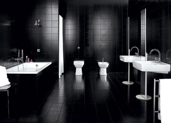 salle de bain noire : 53 idées déco originales à couper le souffle ! - Salle De Bains Noire