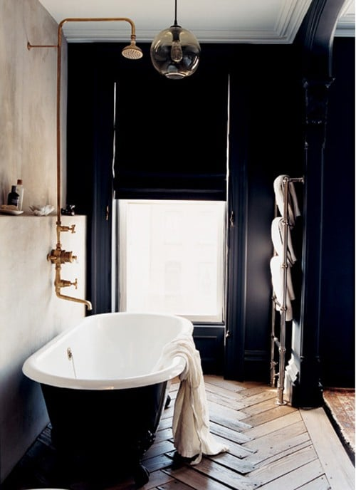 Salle de bains noire: 53 exemples inspirants et inoubliables