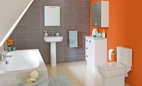 Awesome Salle De Bain Orange Et Gris Gallery