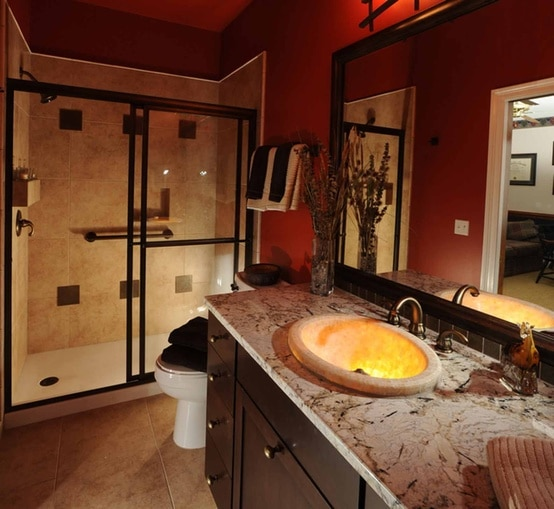 Stunning Salle De Bain Orange Et Marron Images Awesome Interior Home Satellite