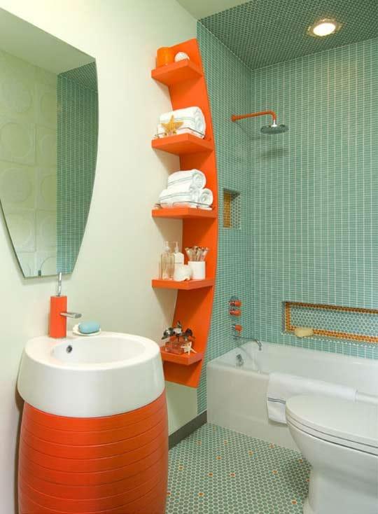 Salle De Bain Moderne Douche Italienne : ideesalledebainorange27