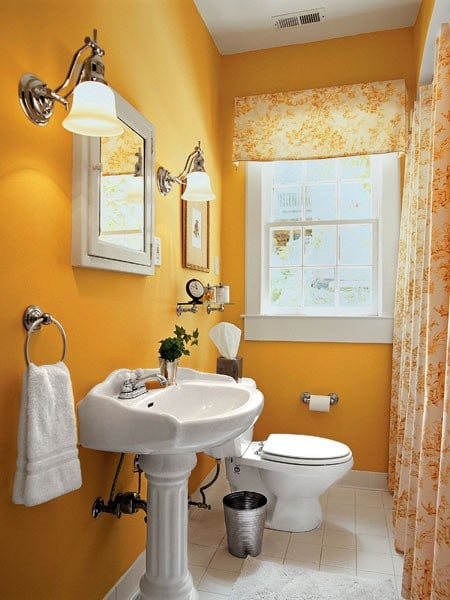 Emejing Salle De Bain Orange Et Blanc Ideas - shopmakers.us ...