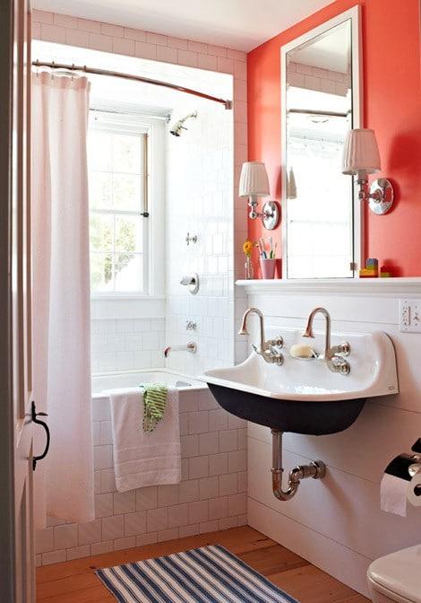 Salle de bain orange : 54 idées pour inspirer votre déco !