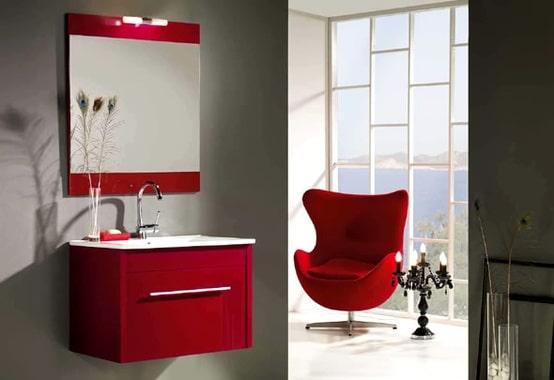 idées de salle de bains rouge : 82 idées incroyables ! - Salle De Bains Rouge