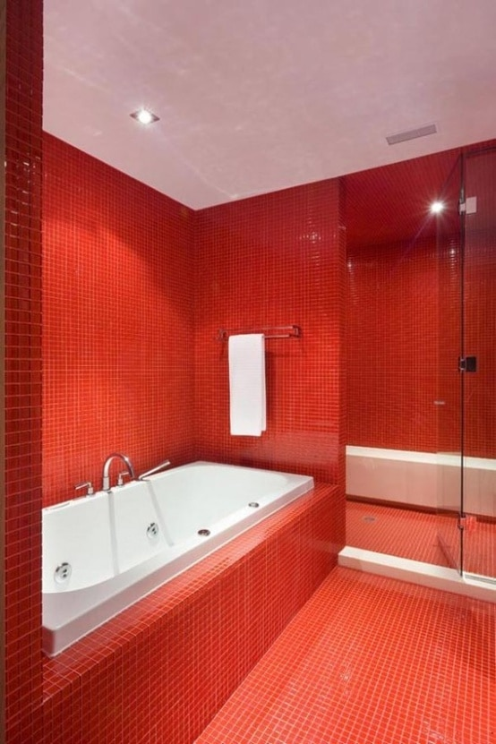 Idee Salle De Bain Rouge 15