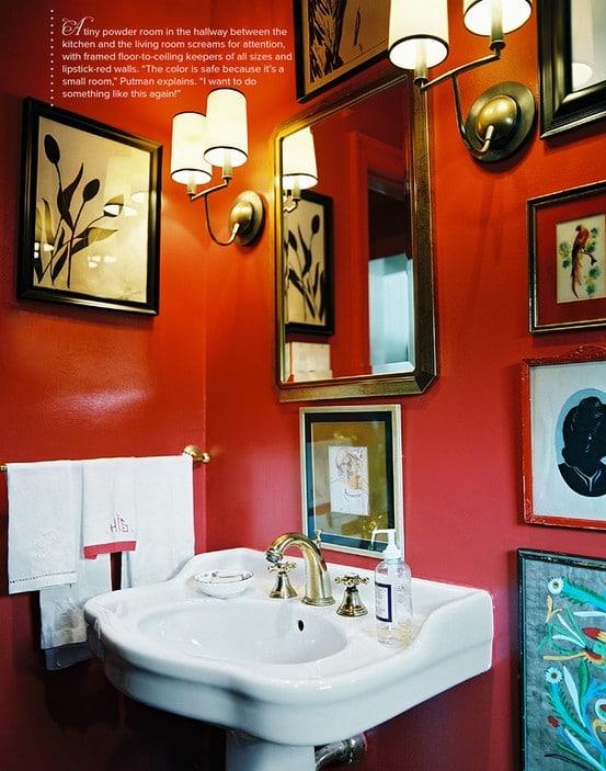 id233es de salle de bains rouge 30 id233es incroyables