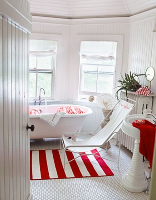 Idées de salle de bains rouge : 82 idées incroyables !