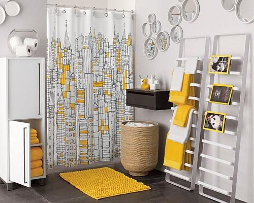 Salle de bains jaune 64 id es qui vont vous faire craquer for Salle de bain jaune moutarde