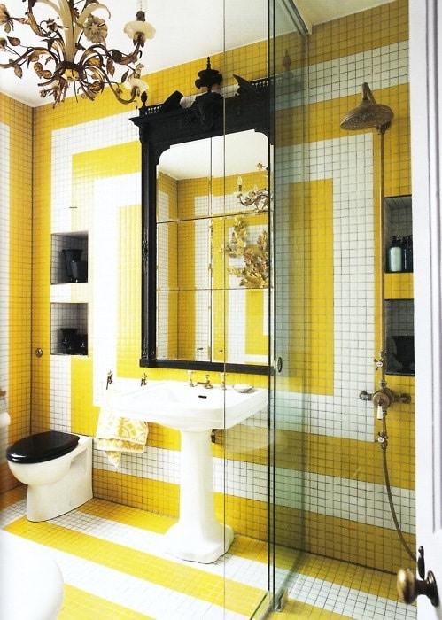 Salle de bains jaune 64 id es qui vont vous faire craquer for Salle bain jaune