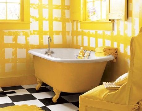 salle de bains jaune 37 id es qui vont vous faire craquer. Black Bedroom Furniture Sets. Home Design Ideas