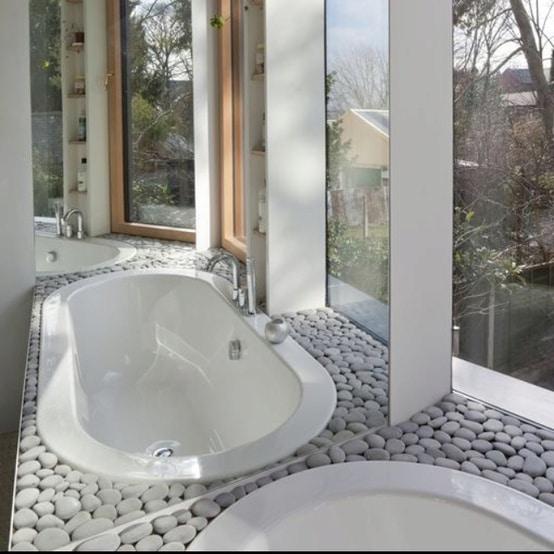 salle de bains en pierre : 35 modèles en marbre, granit, basalte ... - Salle De Bain Pierre