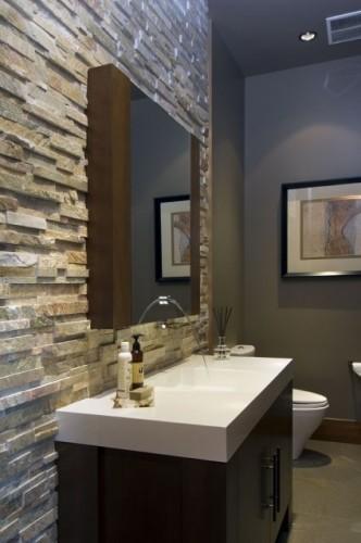 Salle de bains en pierre 35 mod les en marbre granit for Plaquette de parement salle de bain