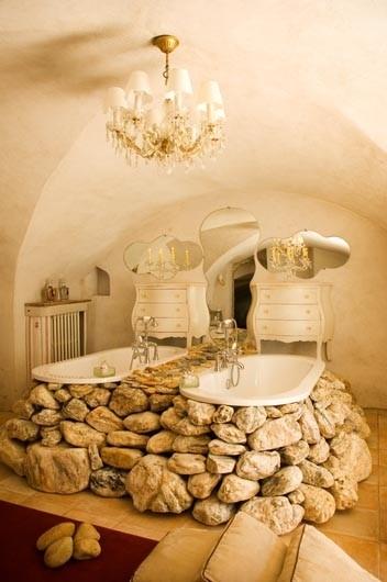 Salle de bains en pierre : 35 modèles en marbre, granit ...