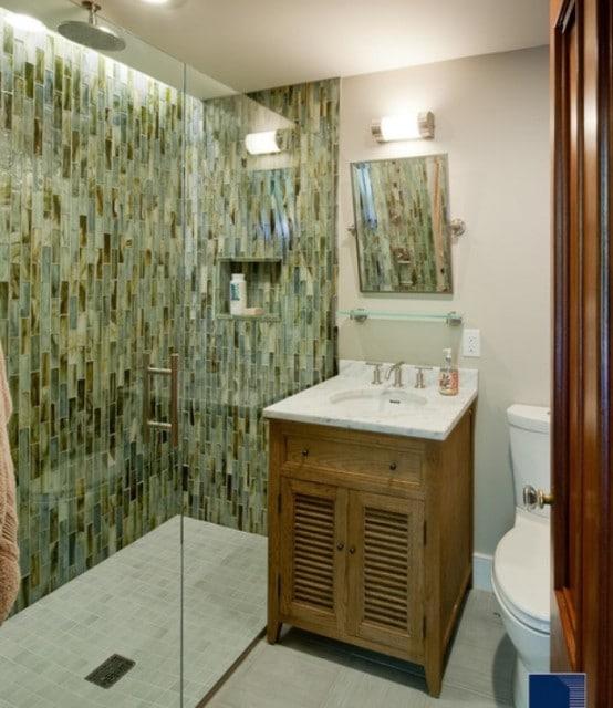 Salle de bains verte 125 id es pour vous convaincre for Amour dans la salle de bain