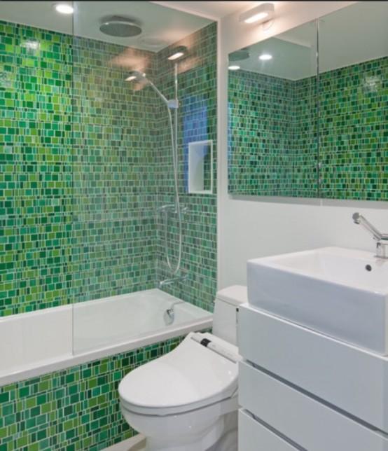 Salle de bains verte 66 id es pour vous convaincre for Salle bain verte