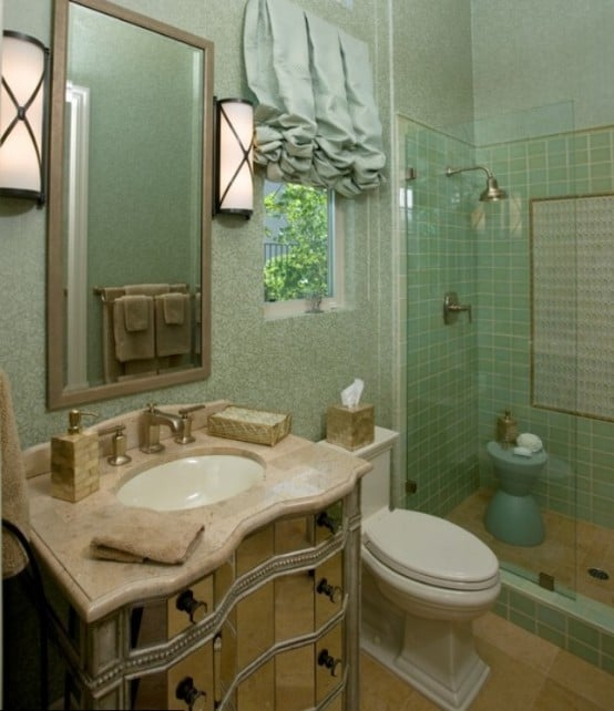 Idee salle de bain verte avec des id es - Salle de bain verte ...
