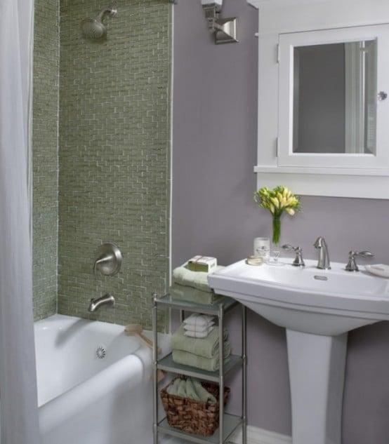 Salle de bains verte 66 id es pour vous convaincre - Salle de bain verte ...
