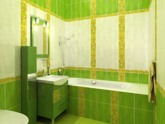 Salle de bains verte 125 id es pour vous convaincre for Salle bain verte