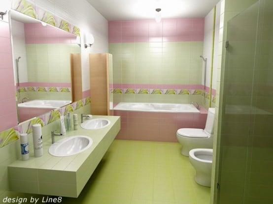 Salle de bains verte 66 id es pour vous convaincre for Salle de bain verte