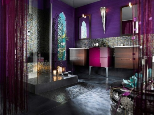 Salle de bains violette : 57 idées pour vous convaincre !
